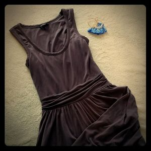 Casual tank dress with back cutout